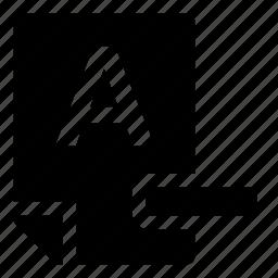 a-, mark icon