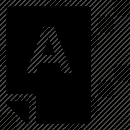 a, mark icon