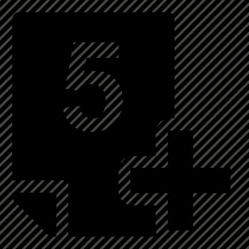 5+, mark icon