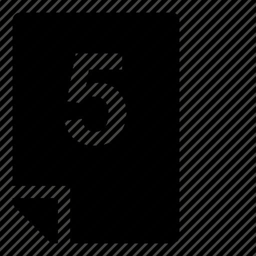 5, mark icon