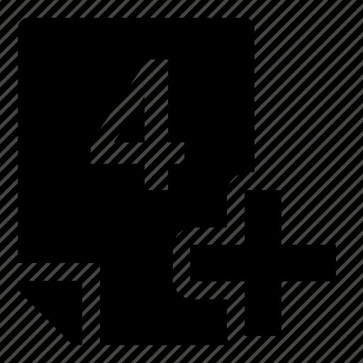 4+, mark icon