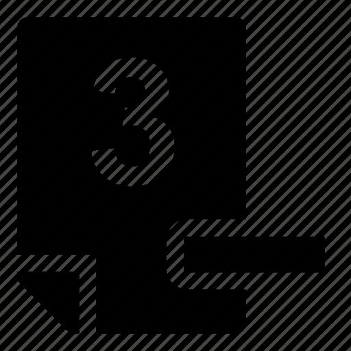 3-, mark icon