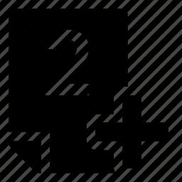 2+, mark icon