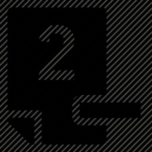 2-, mark icon