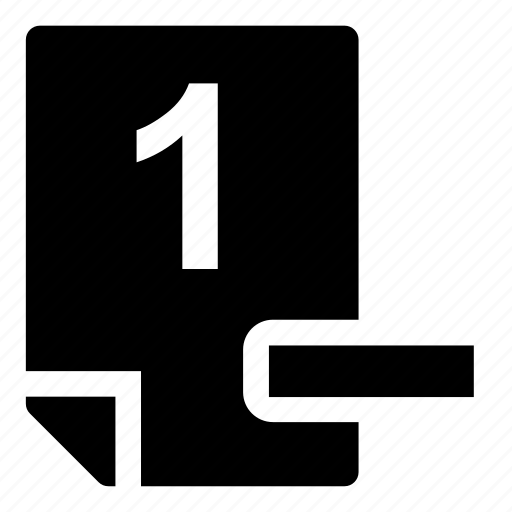 1-, mark icon