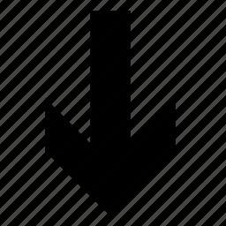 arrow, crisis, fall icon