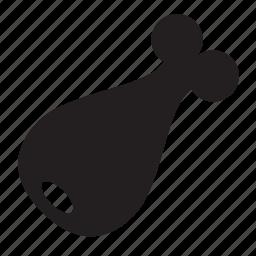 chicken, leg icon