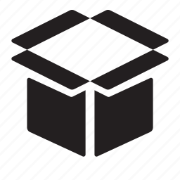 box, opened icon