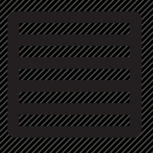 grid, rows icon