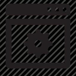 options, window icon