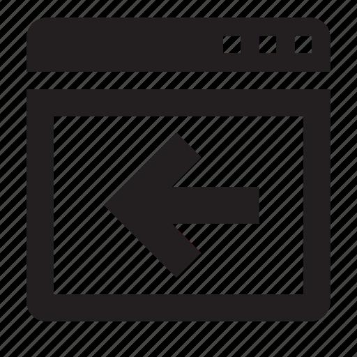 previous, window icon