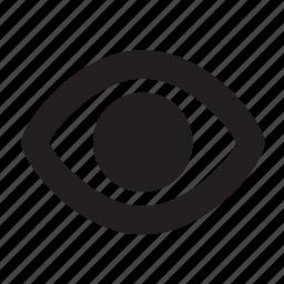 eye, view icon