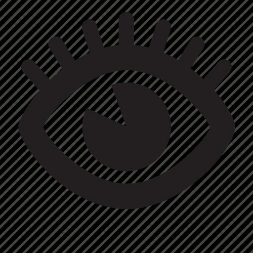 eye, eyelash, view icon