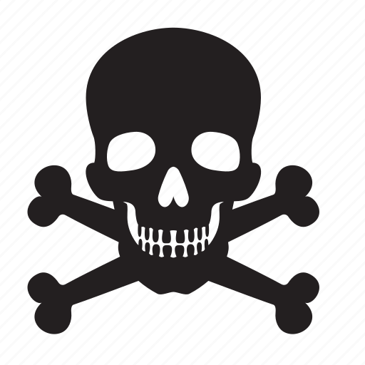 and, attention, bones, death, skull icon