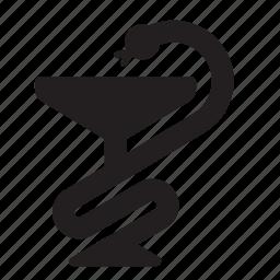 medicine, snake icon