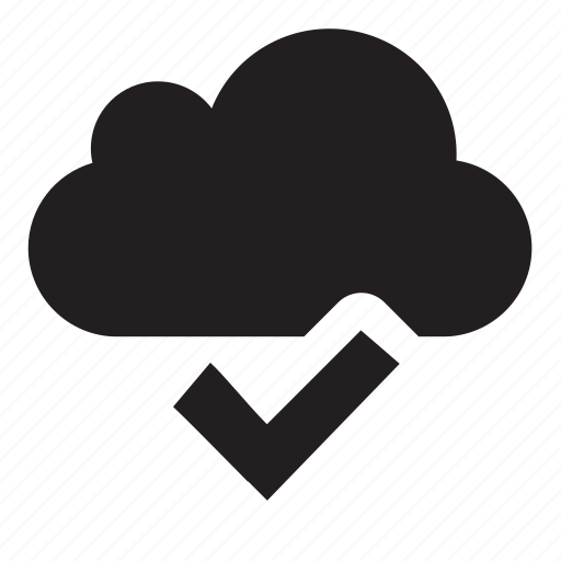 cloud, ok, synchronized icon