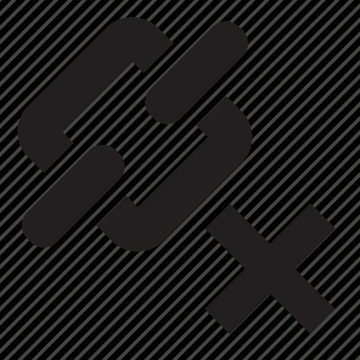 delete, link icon