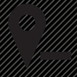 location, remove icon