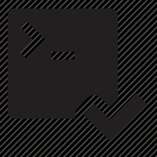 application, ready icon