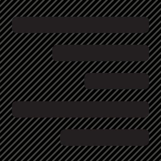 align, right, text icon