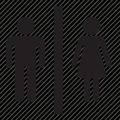 man, toilet, wc, woman icon