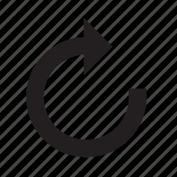 action, redo icon