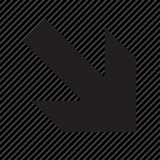 arrow, down-right icon