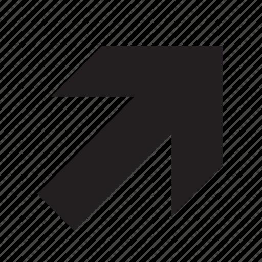 arrow, up-right icon