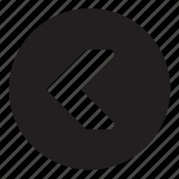 backward, button icon
