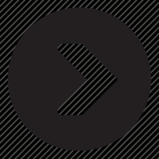 button, foward icon