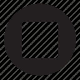 button, stop icon