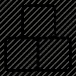 blocks, bricks, cubic icon