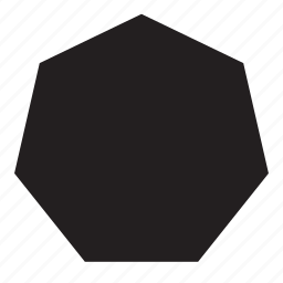 heptagon, shape icon