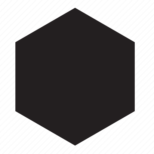 hexagon, shape icon