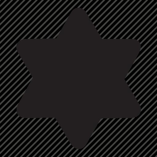 david, hexagonal, shape, star icon