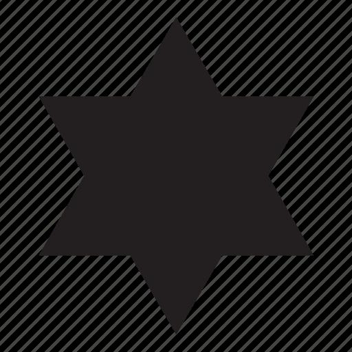 hexagonal, shape, star icon