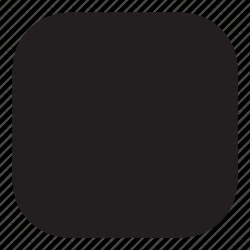 rounded, shape icon