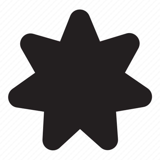 seven, shape icon