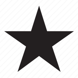 shape, star icon