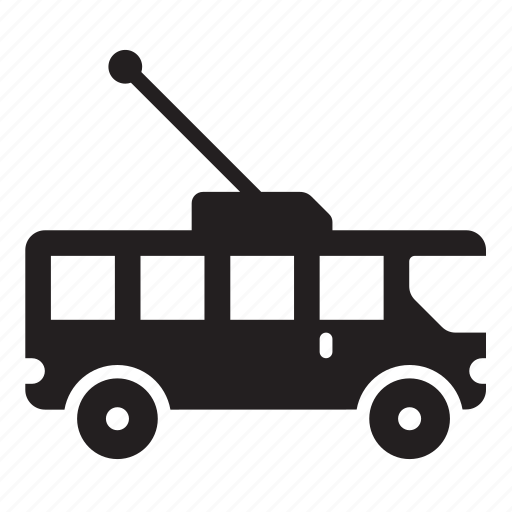bus, trolley icon