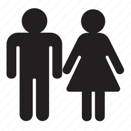 couple, toilet, wc icon