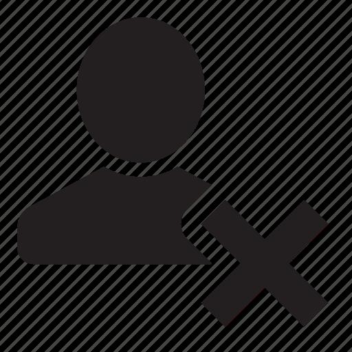 delete, profile icon