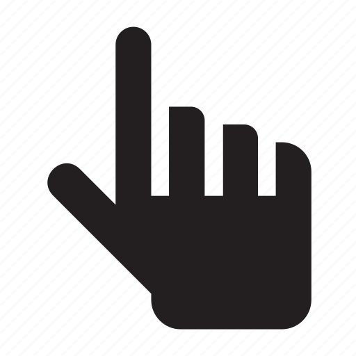 forefinger, up icon