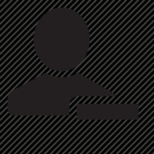 friend, remove icon