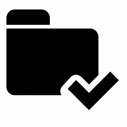 check, folder icon