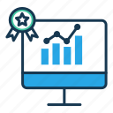 analysis, chart, education, elearning, online report, result, statistics icon