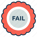 education, elearning, fail, grade, report, test icon