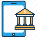 bank, elearning, internet banking, mobile banking, online payment, transaction icon