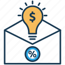 course cost, course plans, elearning, idea, mail, plan, subscription icon