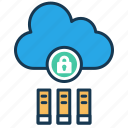 cloud storage, ebooks, education, elearning, online books, security icon